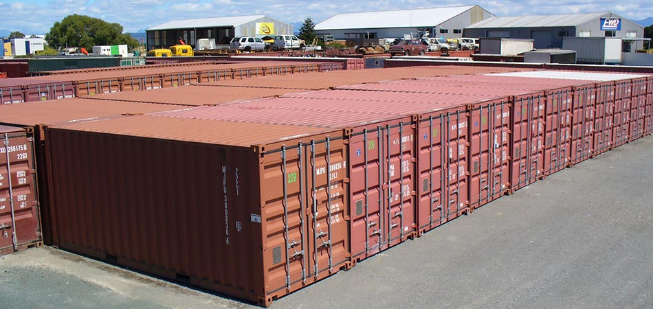 Amazing Shipping Container Storage Yard Part - 2: ... Can See From The Images Below, Thereu0027s Plenty Of Space In The Yard To  Pull Up Your Vehicle And Trailer Or Boat, Right Up To The Doors Of Your  Container.